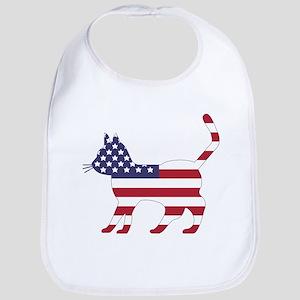 US Flag Cat Icon Bib