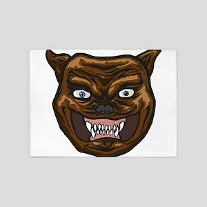 Angry Dog 5'x7'Area Rug