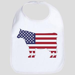US Flag Cow Icon Bib