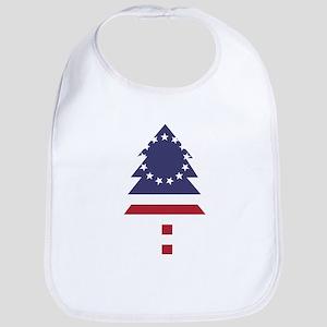 Betsy Ross Flag Pine Tree Bib