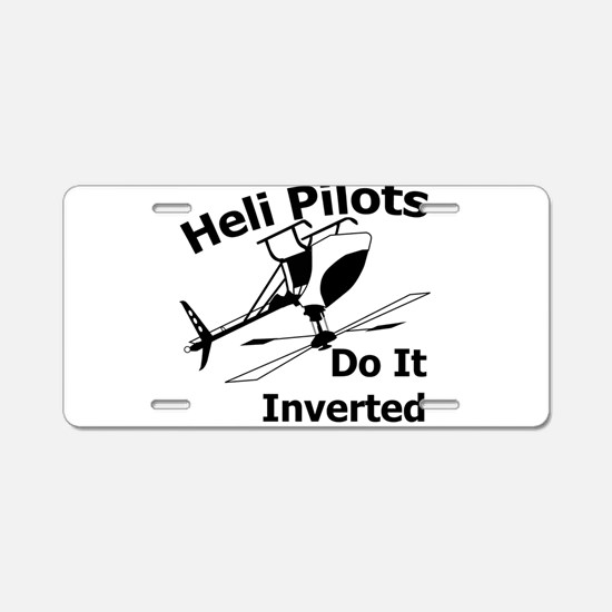 Funny Flying Aluminum License Plate