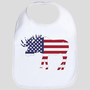 US Flag Moose Bib