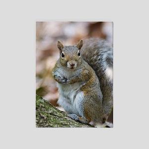 Cute Squirrel 5'x7'Area Rug