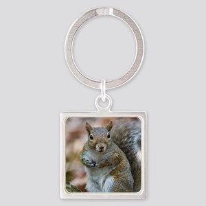 Cute Squirrel Square Keychain