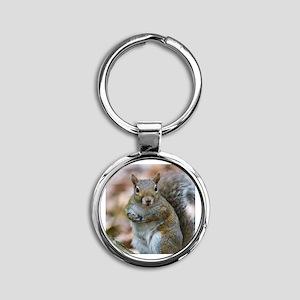 Cute Squirrel Round Keychain