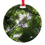 Forest Canopy (Sugar Skull) Round Ornament