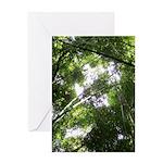 Forest Canopy (Sugar Skull) Greeting Card