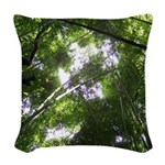 Forest Canopy (Sugar Skull) Woven Throw Pillow