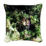 Island Forest Woven Throw Pillow
