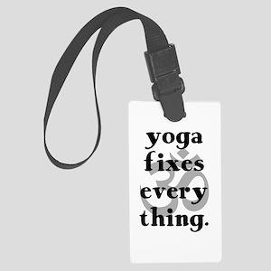 Yoga Fixes Everything Luggage Tag