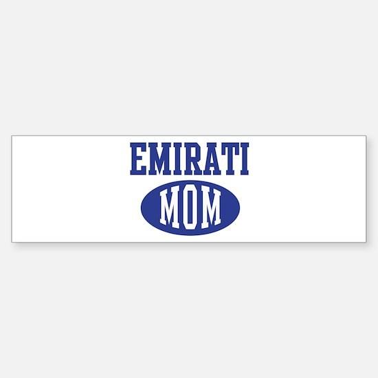 Emirati mom Bumper Bumper Bumper Sticker