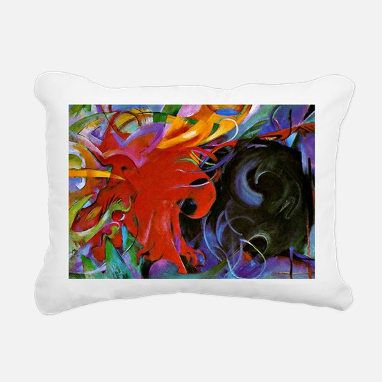 Franz Marc, Fighting For Rectangular Canvas Pillow
