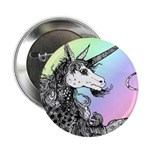 Dappled Unicorn Rainbow Button