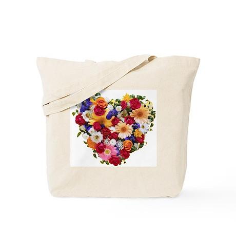 Heart Bouquet Tote Bag