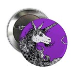 Purple Dappled Unicorn Button