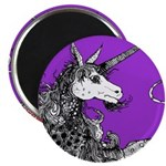 Purple Dappled Unicorn Magnet