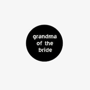 Grandma of the Bride Black Mini Button