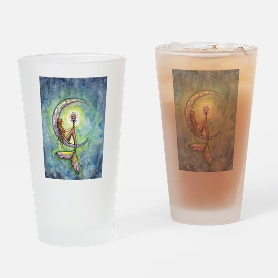 Mermaid Moon Fantasy Art Drinking Glass