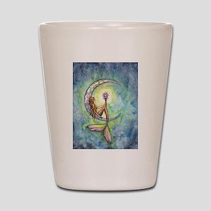 Mermaid Moon Fantasy Art Shot Glass