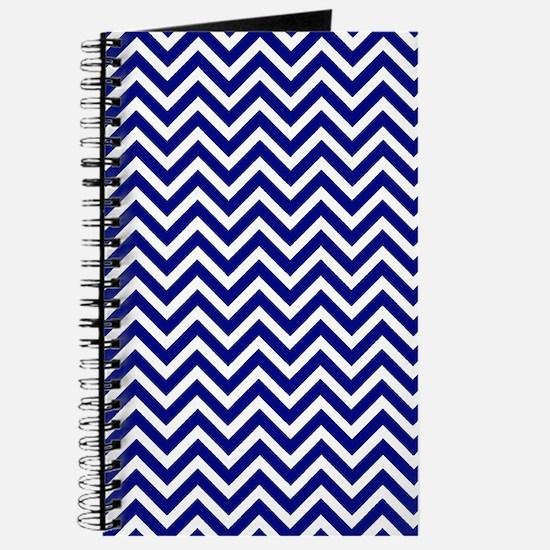 royal blue and white chevron stripe Journal