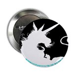 Dappled Unicorn White Silhouette Button