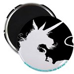 Dappled Unicorn White Silhouette Magnet