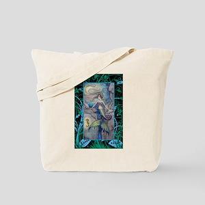 Mermaid and Seahorse Fantasy Art Tote Bag