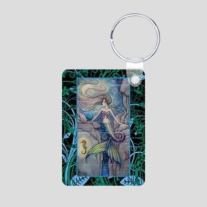 Mermaid and Seahorse Fanta Aluminum Photo Keychain