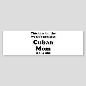 Cuban mom Bumper Sticker