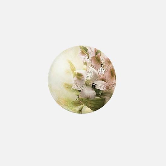 Vintage Flowers Mini Button