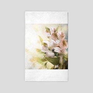 Vintage Flowers 3'x5' Area Rug