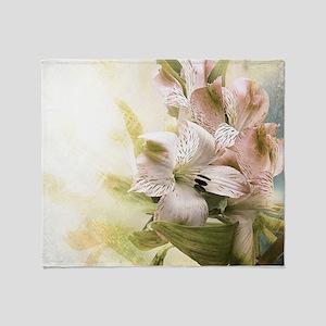 Vintage Flowers Throw Blanket