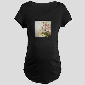 Vintage Flowers Maternity T-Shirt