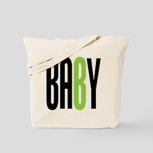 Twin Baby B Green Tote Bag