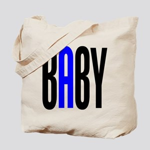Twin Baby A Blue Tote Bag