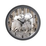 Keeshonds at the Gate Wall Clock