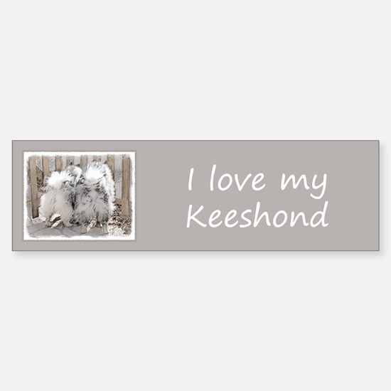 Keeshonds at the Gate Sticker (Bumper)