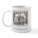 Keeshonds at the Gate 11 oz Ceramic Mug