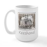 Keeshonds at the Gate 15 oz Ceramic Large Mug