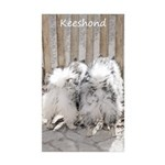 Keeshonds at the Gate Sticker (Rectangle 50 pk)
