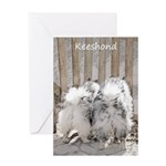 Keeshonds at the Gate Greeting Card