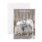 Keeshonds at the Gate Greeting Cards (Pk of 10)