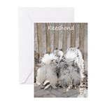 Keeshonds at the Gate Greeting Cards (Pk of 20)