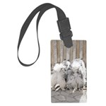 Keeshonds at the Gate Large Luggage Tag