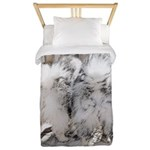 Keeshonds at the Gate Twin Duvet Cover