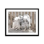 Keeshonds at the Gate Framed Panel Print