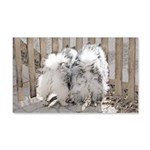 Keeshonds at the Gate 20x12 Wall Decal