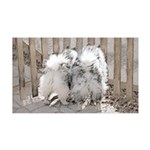 Keeshonds at the Gate 35x21 Wall Decal