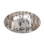 Keeshonds at the Gate Oval Car Magnet