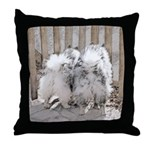 Keeshonds at the Gate Throw Pillow